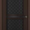 дверь Лайн 12 стекло черное ромб