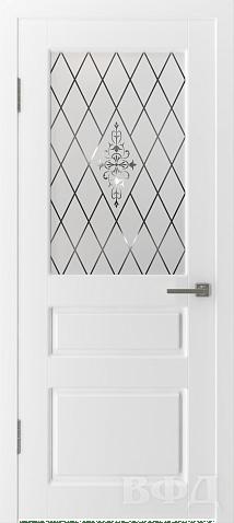 дверь честер белая эмаль ВФД