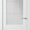 Дверь Доррен 58ДО0 белый (сатинат белый с гравировкой)