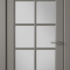 Дверь Гланта 57ДО03 тёмно-серый (белый сатинат)