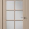 Дверь Гланта 57ДО04 латте (белый сатинат)