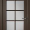 Дверь Гланта 57ДО05 шоколад (белый сатинат)