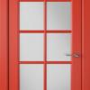 Дверь Гланта 57ДО07 красный (белый сатинат)
