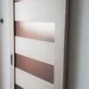 дверь межкомнатная атум экошпон гринлайн капучино стекло бронза