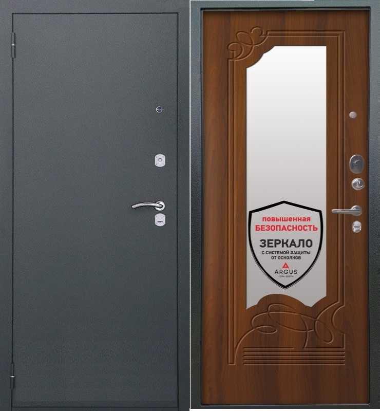 дверь с зеркалом-olga-dub-rust